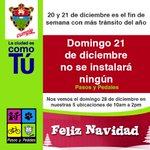 Hoy NO hay #PasosyPedales Te esperamos el domingo 28 en nuestras 5 ubicaciones en toda la ciudad. http://t.co/Q2mJq2fbiK