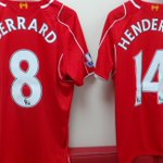 PHOTO: The jerseys Steven Gerrard, Jordan Henderson and Lazar Markovic will wear for #LFC today against Arsenal http://t.co/JTisacecOo