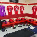 PHOTO: A glimpse inside the #LFC dressing room ahead of kick off against the Gunners at Anfield http://t.co/vX6aB2zOG5