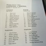 Here is your official #LFCvAFC team sheet... http://t.co/9K3aL3bzcc
