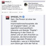 Gut gekontert, liebe Kollegen von @SPIEGELTV! #pegida #lügenpresse http://t.co/XjedbZrPvV