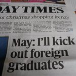 Not the ideal headline if we want the best in the world to study in Britain and contribute to our future success. http://t.co/WNAzK6HCkw