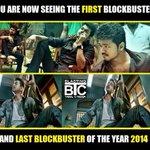 2014 1st BB- #Jilla and last BB of the year 2014 #Kaththi #JILLA_KATHTHIBlockbusterYearOfVIJAY http://t.co/zz6gBhZ6xu