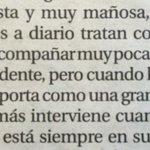 Texto en @larazon_es sobre Elvira Fernández (Mujer de Rajoy) propio del siglo XIX o la sección femenina. http://t.co/OxcvvuBDn0