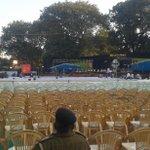 Preparations are on! #NAV50 #AnandibenPatel http://t.co/DETO9Ou3dQ