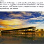 ¿Qué tendrá mi #Huelva que se resiste a ser fea por mucho que le quieran pintar la cara?... http://t.co/VndnSrDTyX