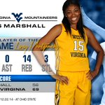 Lanay Montgomery is our Player of the Game after a 69-56 win over @HerdWBB. Congrats Lanay! #HailWV http://t.co/qJCQh0vRmy