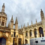Christmas in Cambridge. BBC have arrived for a Festival of Nine Lessons & Carols. @ChoirOfKingsCam @BBCRadio4 http://t.co/1mHzEdZc5j
