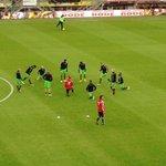 De warming-up van Feyenoord in het Rat Verlegh stadion is in volle gang. #nacFEY http://t.co/aTnCXRUOrL