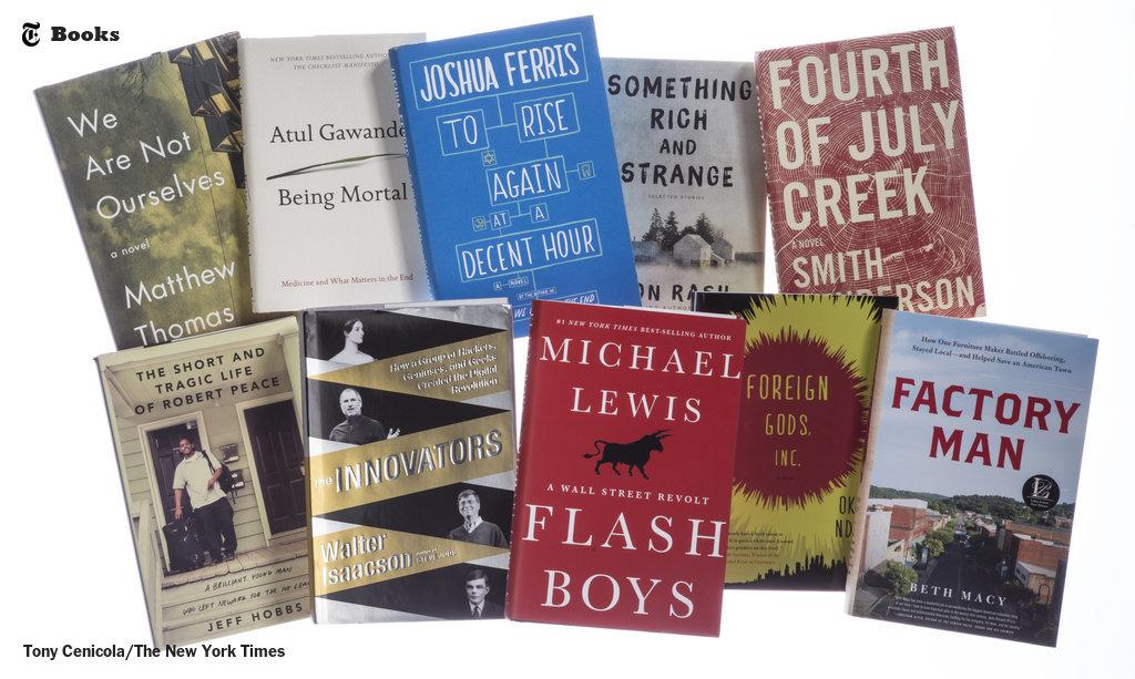 The 10 best books of 2014, from NYT critic Janet Maslin http://t.co/uEfoPi1x82 http://t.co/oJBJX7aGU8