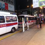 Here we see police vans with cops inside parked along the Nathan Road/Argyle crossroads #9wu #umbrellamovement http://t.co/EcgT2VFv9p