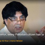 "One is U Mr Minister!""@dawn_com: Sympathisers, supporters of terrorists live among us: Nisar 