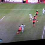 Look at Scepovic as the ball is played. CLEARLY onside. Shocking decision. http://t.co/NS1AZgmrOx