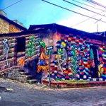 Mural en San Pedro La Laguna , Bendiciones gente de @lamarca94fm En Solola. 100% Guatemala http://t.co/2K38DUQa0n