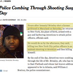 Noted: NYT story on murder of two NYPD cops avoids vague, passive language used for NYPDs killing of Eric Garner. http://t.co/huVJZTKHdx