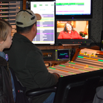 """Future director: Bret Jackman watches his grandmother @crowleyCNN from control room during """"CandyGrams"""" final show. http://t.co/Yfh2PbpzVq"""