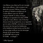 Une réflexion de Gilles Vigneault qui est pleine de sens. http://t.co/50Kbighuxa