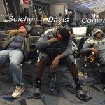 CAUGHT ON CAMERA: @DrewSoicher snoozin with Overland hoop stars @DDavis2016 and @AC_2P at Vegas airport #9NEWS http://t.co/s0BknUKTFz