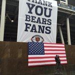Sign greeting fans entering Soldier Field for the #Bears final home game of 2014 http://t.co/oAafdBh50A