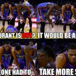Russell Westbrook when Kevin Durant was injured! #Thunder http://t.co/B7WtQyvLd1