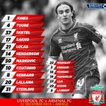 Today's #LFC starting line-up and substitutes in full on our matchday graphic http://t.co/6vkeEx7i3W