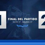 Final. #ElcheCF, 1 (Lombán, 45) - #MálagaCF, 2 (Camacho, 49 y @14_luisalberto, 77). #MCFLive http://t.co/pcHYQYcVCD