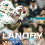 On that drive, WR Jarvis Landry surpassed Terry Kirby for the most receptions by a rookie in franchise history! http://t.co/BcfgAApomF