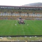 Listas las 4 pantallas en el Monumental para la final @marcadorec http://t.co/usrjsNjGs9
