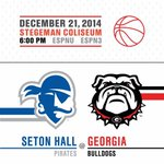 The Dawgs are back in action tonight! Come out to Stegeman Coliseum as we take on Seton Hall at 6:00 PM on ESPNU http://t.co/hM5Mov8LTS