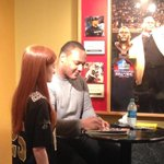New Orleans @Saints great @iWillSmith signing autographs today before #ATLvsNO at #Saints Hall of Fame http://t.co/gGHUno1OeX