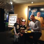 Signing for @saints fans at the Hall of Fame today before #ATLvsNO game #whodat http://t.co/TKWtPi974j http://t.co/xxWX6JXam2