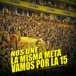 A poner Huevos muchachos #VamosPorLa15 aunque no estemos en el estadio todo @Hincha_Amarillo no te deja de alentar http://t.co/4i144lIiAI