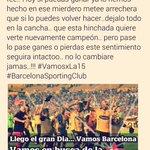Llego el gran día te tengo fe @BarcelonaSCweb todo un @PuebloAmarillo estara contigo hoy.!! #VamosPorLa15 ???? #BSC ???? http://t.co/vHQXTtv6WP