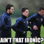 """Arsenal fans were chanting """"Luis Suarez, he left cause youre shit"""" in the first half. http://t.co/2qCyreUzj5"""