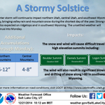 Stormy weather for the solstice today! For more info on high elevation snow totals & impacts, see the graphic! #utwx http://t.co/qcA6icBr7W