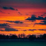 Last night sunset from Grantchester Meadows... Near Cambridge. Glad I had my @nikon D3 with me. http://t.co/81ZXIi4gOV
