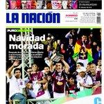 Ven, la portada de la @nacion de hoy SÍ está ssssssssssolo bueno... feliz navidad ho ho ho http://t.co/vft1Jr7d9n
