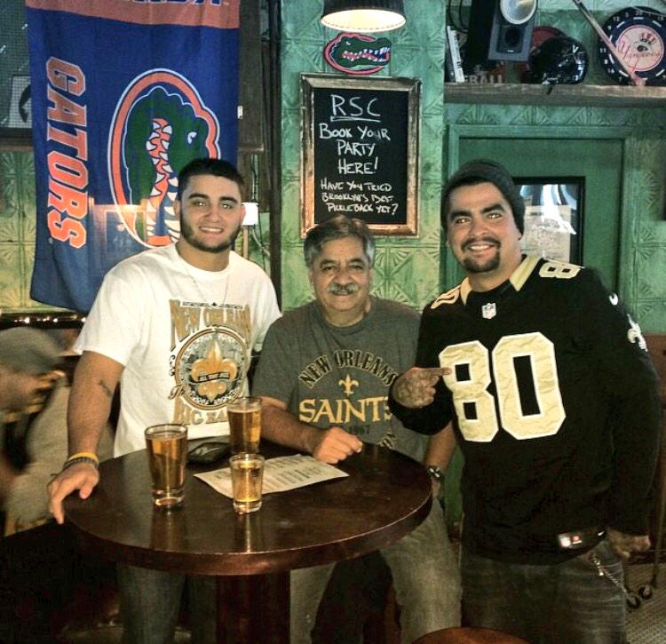 The fam and I representing the @Saints in NYC... Who dat baby!!!  #ATLvsNO http://t.co/aEe9DOQ0zq