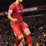 Martin Skrtel celebrates scoring Liverpools equalising goal against Arsenal today at Anfield. 2-2. #LFC #LIVARS http://t.co/zi7ZZS7E13
