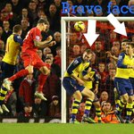 Liverpool v Arsenal as told by Twitter. Features a photo of brave Arsenal defending http://t.co/L6qkOdEKpU #babb http://t.co/KwXUklvRsO