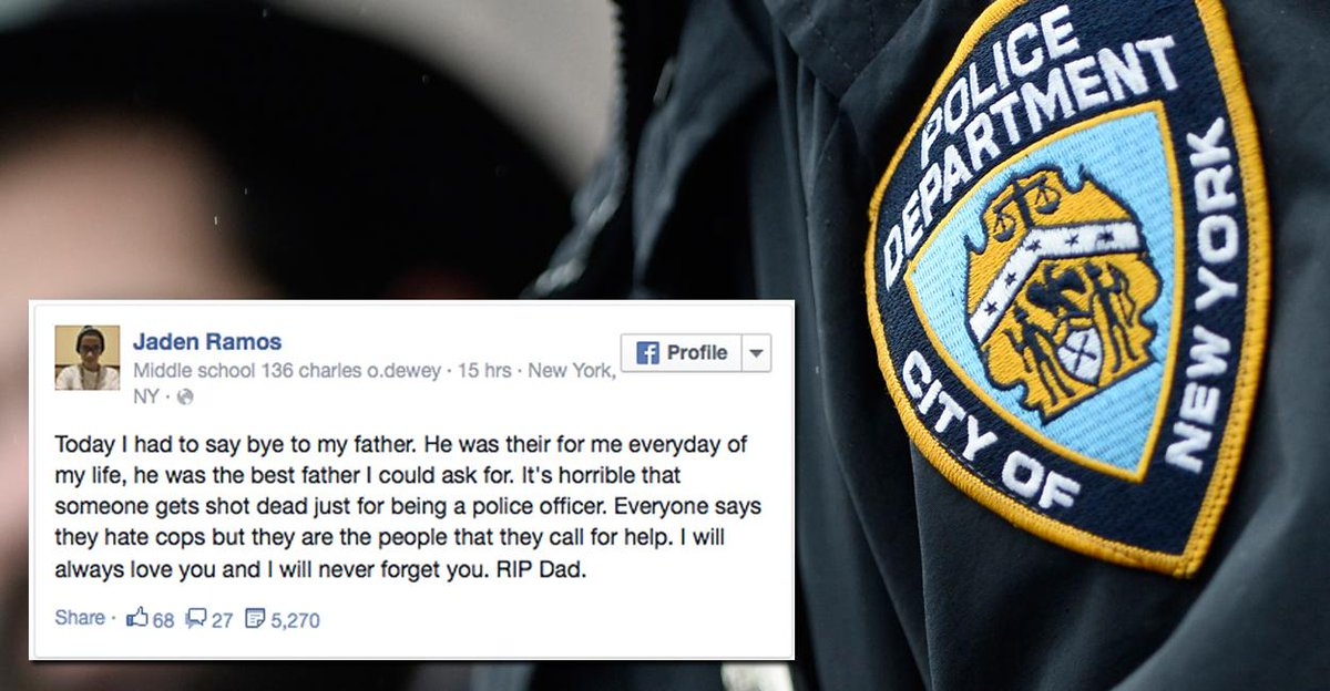 13-Year-Old Son of Fallen #NYPD Officer Posts Heartbreaking Goodbye to Father on Facebook - http://t.co/RoEPxsXPnO http://t.co/YgykBrnzfz