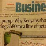 Pump price in Kenya . Figures dont lie http://t.co/oebGaaBWnb