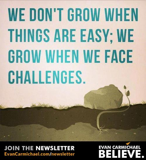 We don't grow when things are easy; we grow when we face challenges. http://t.co/SEjMupDUJs