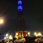 A symbolic Tribute for our fallen brothers tonight in #ConeyIsland. May they Rest in Peace. http://t.co/oXHNBrgPap