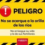 #MejorPrevenir Por seguridad recomendamos no acercarse a las orillas de los ríos. @aaguilar_EMOVEP @CholaCabrera http://t.co/oJUbcMmj7i