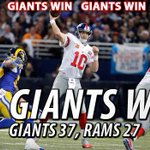 The #Giants win 37-27! Watch Giants Postgame Live on MY9, Giants Mobile App or online here: http://t.co/bcu0EvQfiR http://t.co/F3Z8KZAyDe