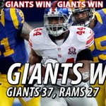 The #Giants defeat the #Rams, 37-27! Watch highlights from the win: http://t.co/BV3gMqMpJ5, presented by @budlight http://t.co/pbLGfyQyQ9
