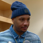 .@carmeloanthony reflects on a tough back-to-back after #Knicks loss vs. TOR.  WATCH: http://t.co/U584EFMUUg http://t.co/pdzqiyXIDW