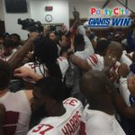 Photo from inside your winning #Giants locker room presented by @PartyCity! Instant Analysis: http://t.co/qmSseRH22P http://t.co/Dr7bRpjXND