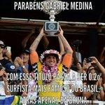 Parabéns Medina http://t.co/TzlIdjoqX0